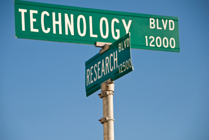 Tech Research Street Sign