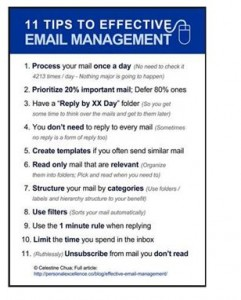 11 Tips to Effective Email Management