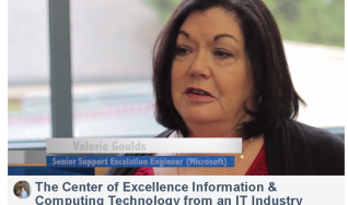 Industry Advisory Board Shares Their Perspective on IT and Contributions to the CoE for ICT Valerie Goulds Microsoft Engineer